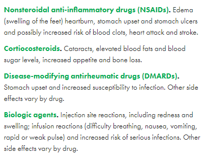 side effects of arthritis drugs
