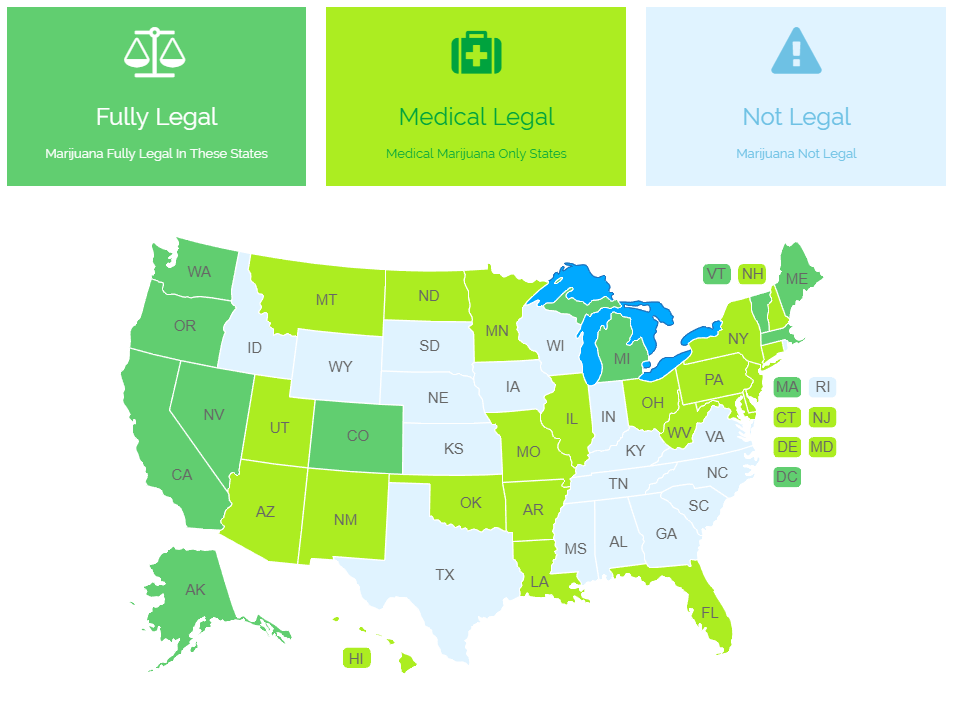 Which States Have Legalized Marijuana Use